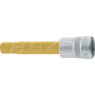 "Hazet 8801-4 10mm (3/8"") Hexagon 4-4 Profile TiN Screwdriver Socket"