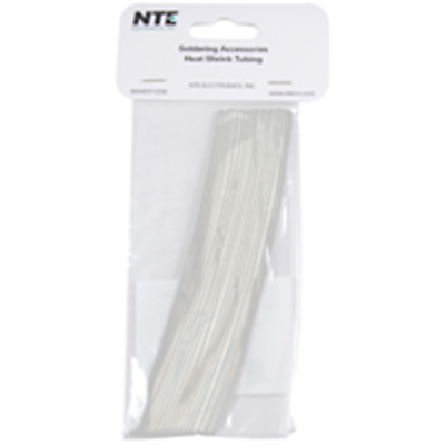 NTE Electronics 47-20006-CL Heat Shrink 3/64 In Dia Thin Wall Clear 6 In Length