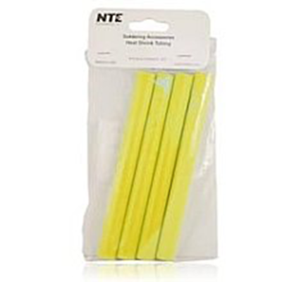 "NTE Electronics 47-25406-Y Heat Shrink 1/2"" Dia W/adhesive YLW 6"" Length 4pcs"
