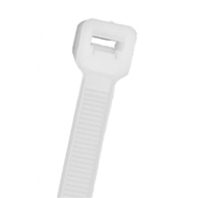"NTE Electronics 04-11509D CABLE TIE 50 LB. STANDARD 11.2"" NATURAL NYLON 500/BAG"