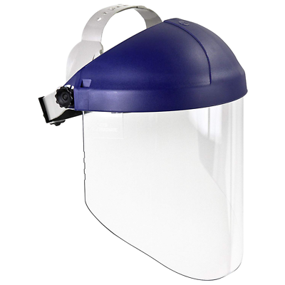 3M™ Ratchet Headgear H8A, 82782-00000, with 3M™ Clear Propionate Faceshield W96