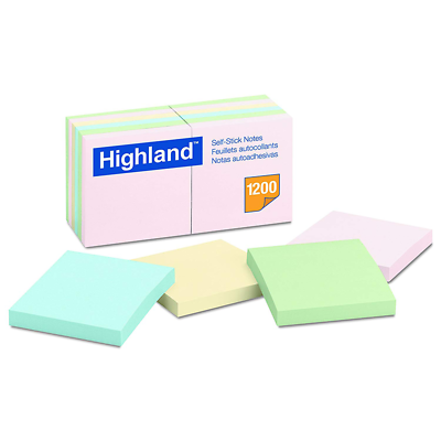 Highland™ 7000052687 Notes 6549A, 3 in x 3 in