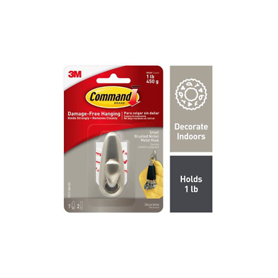 Command Forever Classic Hook FC11-BN-ES, Small