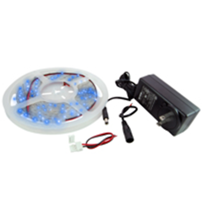 NTE Electronics 69-36B-KIT LED STRIP KIT BLUE 16.4FT 300 (3528) LEDS 12V 24W