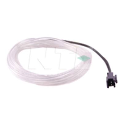 NTE Electronics 69-ELW3.2-TB EL WIRE TRNP BLUE 3.2MM DIA 3M W/PRE-WIRED CONN