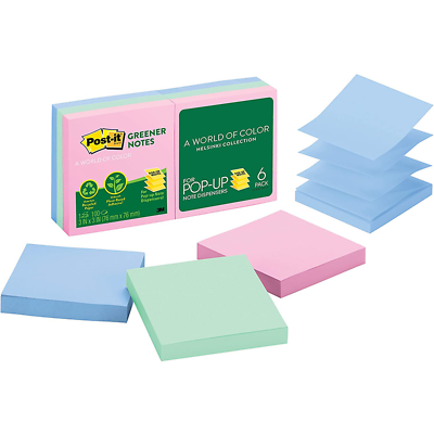 Post-it Pop-up Notes R330RP-6AP, 3 in x 3 in (76 mm x 76 mm)