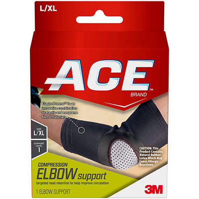 ACE Compression Elbow Support, 207524, Large/ X-Large