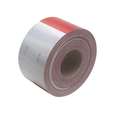3M™ Diamond Grade™ Conspicuity Markings 983-32 Red/White, 4 in x 50 yd
