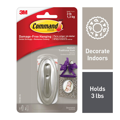 Command™ Traditional Medium Hook 17051BN-ES
