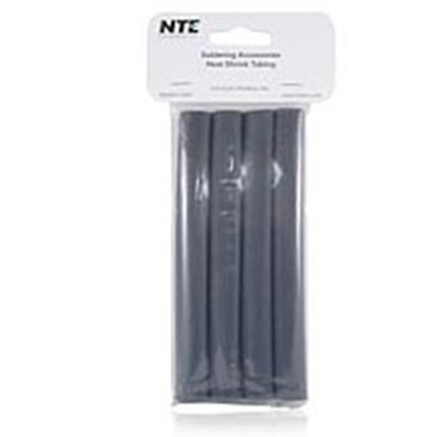 "NTE Electronics 47-25406-BK Heat Shrink 1/2"" Dia W/adhesive BLK 6"" Length 4pcs"