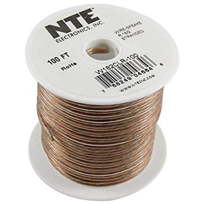 NTE Electronics  W122CLR-100 WIRE-CLEAR SPEAKER 12/2GAUGE STRANDED 100 FEET