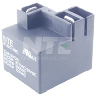"NTE Electronics R45-1D30-24 RELAY-SPST-NO 30A 24VDC PC MOUNT .25"" TERM. ON TOP"
