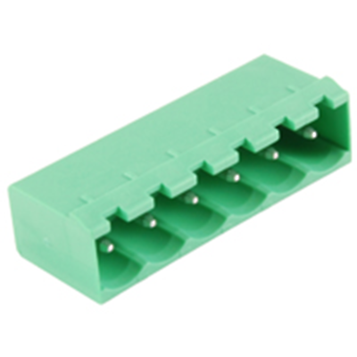 NTE Electronics 25-E1300-06 Terminal Block 6 Pole 5.08mm Pitch 300V 15A PC Mount