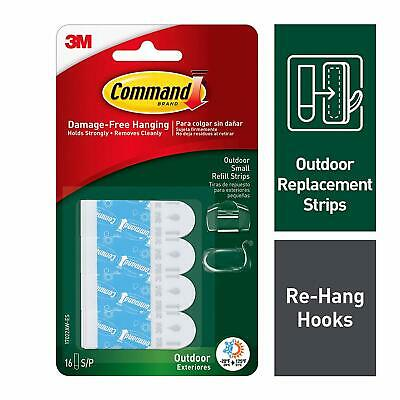 Command Outdoor Small Foam Strip Refills 17022AW-ES