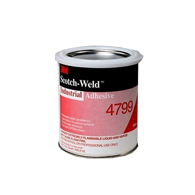 3M™ Industrial Adhesive 4799, Black, 1 Quart Can