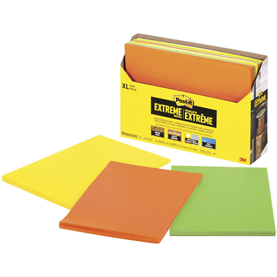 Post-it Extreme Notes EXT456-9CT, 4.5 in x 6.75 in (114 mm x 171 mm)