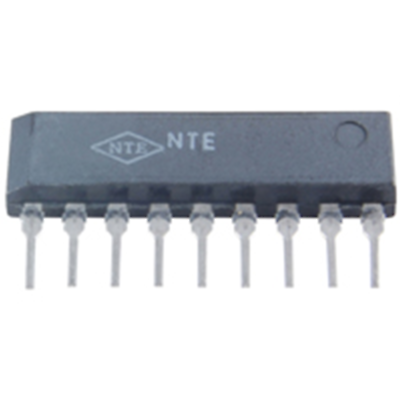 NTE Electronics NTE1829 INTEGRATED CIRCUIT QUAD TRANSISTOR ARRAY 5K OHM 9-LEAD S
