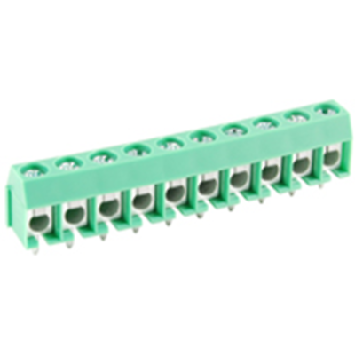 NTE Electronics 25-E400-10 Terminal Block 10 Pole 5.00mm Pitch 300V 16A PC Mount