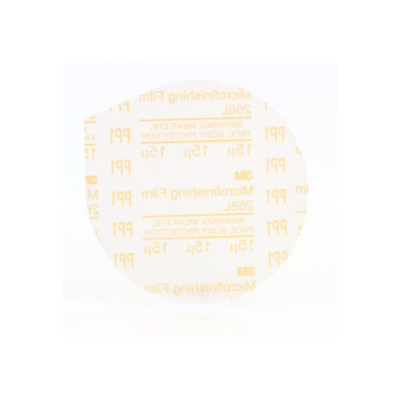 3M™ Microfinishing PSA Film Disc 268L, 5 in x NH, 15 Micron, Type D, Die 500X