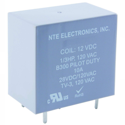 NTE Electronics R48-5D10-12 RELAY SPDT 10AMP 12VDC PC MOUNTABLE EPOXY SEALED