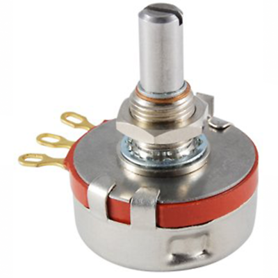 "NTE Electronics 501-0009 POTENTIOMETER 2 WATT 5K OHM 1/4"" DIAMETER SHAFT"