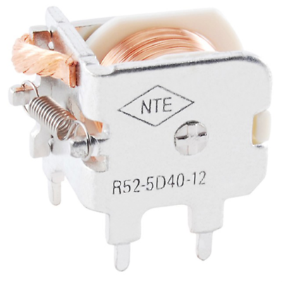 NTE Electronics R52-5D40-12 RELAY SPDT 40AMP 12VDC PC MOUNT OPEN FRAME