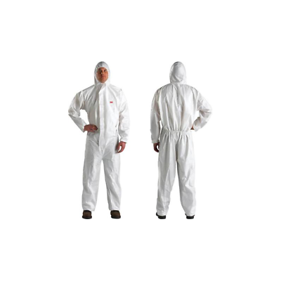 3M™ Disposable Protective Coverall 4510-L White Type 5/6