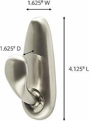 Command Large Forever Classic Brushed Nickel Metal Hook 2 pack FC13-BN-2ES