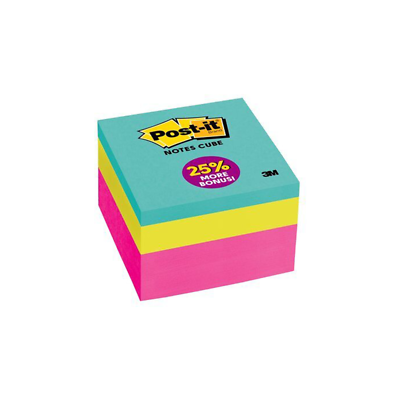 Post-it Notes Cube, 2027-B, 3 in x 3 in