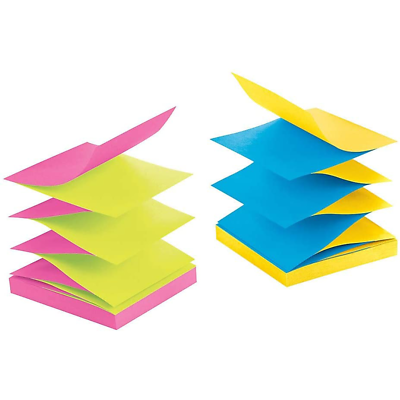 Post-it Super Sticky Pop-up Notes R330-SSAU-ALT, 3 in x 3 in (76 mm x 76 mm)