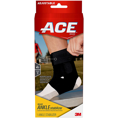 ACE Deluxe Ankle Brace 207736, One Size Adjustable