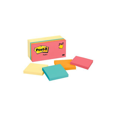 Post-it Notes 654-14YWM, 3 in x 3 in (76 mm x 76 mm) Cape Town