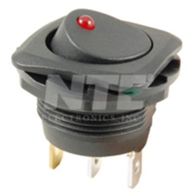 NTE Electronics 54-712 SWITCH ROCKER SPST 16A 125VAC ON-NONE-OFF RED DOT