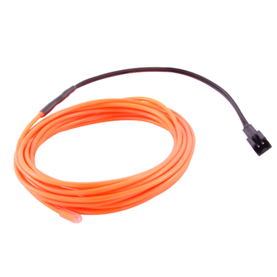 NTE Electronics 69-ELW2.3-OR EL WIRE ORANGE 2.3MM DIA 3M W/PRE-WIRED CONNECTOR