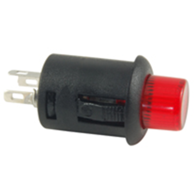 NTE Electronics 54-703-R SWITCH PUSH BUTTON SPST 3A 125VAC RED 6A 14VDC
