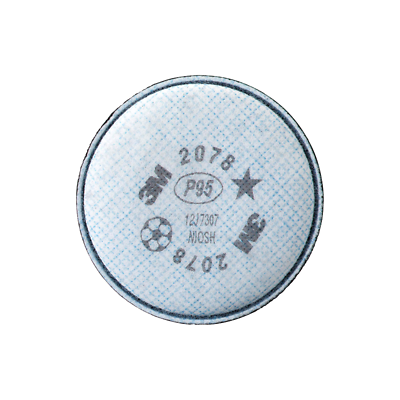3M™ Particulate Filter 2078, P95, with Nuisance Level Organic Vapor/Acid relief