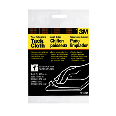 3M™ Tack Cloth 10132NA, 17 in x 36 in, Single Ply