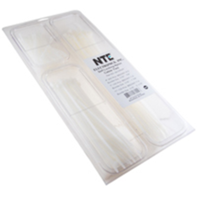 NTE Electronics 04-CPNAT CABLE TIE CONVENIENCE PACK NATURAL NYLON