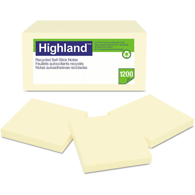 Highland Notes 6549RP, 3 in x 3 in (76 mm x 76 mm)