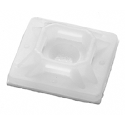"NTE Electronics 04-MPA10009 MOUNT PAD 1"" SQUARE ACRYLIC NATURAL #6 SCREW 100/BAG"