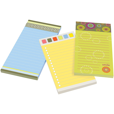 Post-it Super Sticky Printed Notes 7366-OFF3, 4 in x 8 in (96 mm x 198 mm)