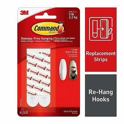 Command Large Refill Strips 17023P-ES