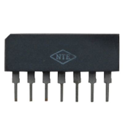 NTE Electronics NTE1195 INTEGRATED CIRCUIT LO-NOISE HIGH GAIN PREAMP 7-LEAD SIP