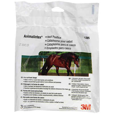 Animalintex Hoof Poultice, Marketed by 3M, 1395, Pre-cut hoof shape