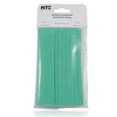 "NTE Electronics 47-20906-G Heat Shrink 3/4"" Dia Thin Wall GRN 6"" Length 10pcs"