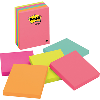 Post-it Notes 675-5LAN, 4 In X 4 In (101 mm X 101 mm)