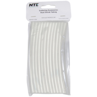 NTE Electronics 47-20506-CL Heat Shrink 1/4 In Dia Thin Wall Clear 6 In Length