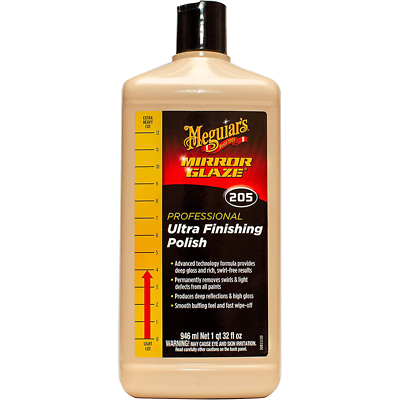 Meguiar's Mirror Glaze Ultra Finishing Polish, M20532, 32 oz., Liquid