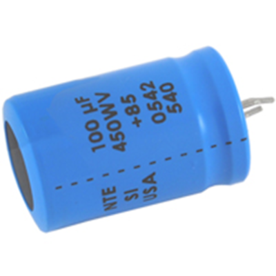 NTE Electronics SI82M450 CAPACITOR SNAP IN ALUMINUM ELECTROLYTIC 82UF 450V 20%