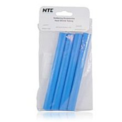 "NTE Electronics 47-25406-BL Heat Shrink 1/2"" Dia W/adhesive Blue 6"" Length 4pcs"